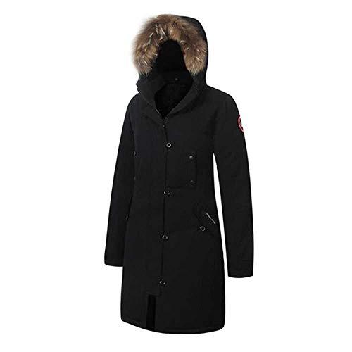 MCSZG Heißer Neue Frau unten gepolsterte Parka Jacke Winter Langen Mantel weiblichen Kanada Damen Parka mit Kapuze Plus größe Extreme Wetter Outwear
