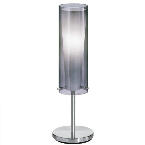 EGLO tafellamp, metaal, E27, grijs