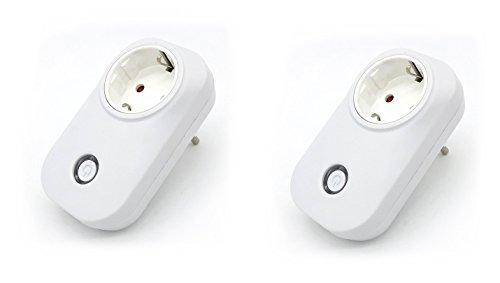 Komforthaus 2-er Set Sonoff S20 Funk WiFi WLAN Schaltsteckdose, deutsche Version, Smart Home Switch für Alexa, Google Home, Android und iOS App