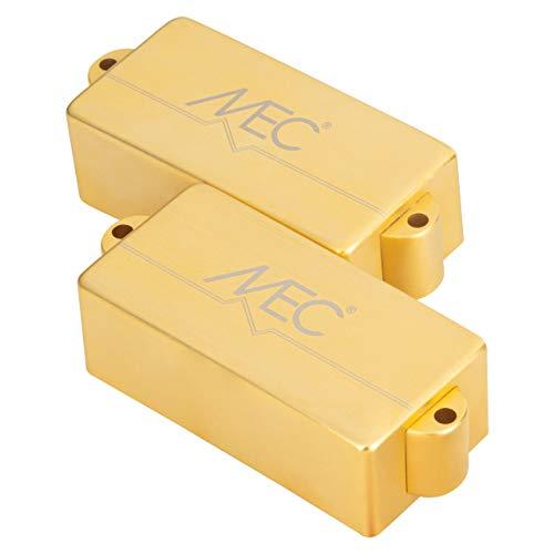 MEC Active P-Style - Pastilla de bajo (cubierta metálica, 4 cuerdas, color dorado cepillado)