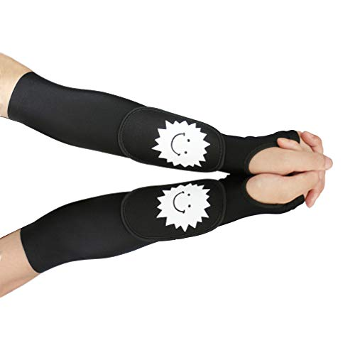 Luwint Kid Volleyball Arm Sleeves - Long Passing Forearm Sleeves for Teen Youth with Protection Pad and Thumbhole, 1 Pair (S)