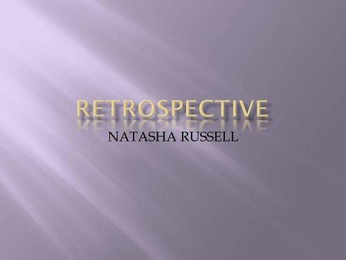 RETROSPECTIVE - Kindle edition by Russell, Natasha