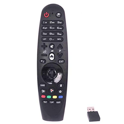 Control Remoto Hogar USB AM-HR600 Accesorios AM-HR650 Universal para LG Smart TV Recambio ABS Magic Negro