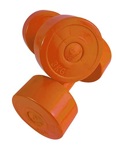 Sveltus Haltère Ciment 3 kg (la Paire) Adulte Unisexe, Orange, XL, Taille Unique