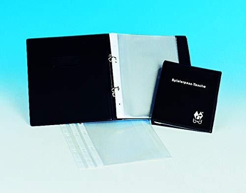 B+D Din A5 Spielerpasstasche, Ringbuch Mappe mit 18 Klarsichthüllen (Groß DIN A5)