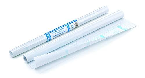 BALMAR 2000 PF04020401 Rotolo di Pellicola Adesiva in Polipropilene Liscio Trasparente Neutro, Supporto di Carta Quadrettata, Lunghezza 2 metri, Altezza 45 cm