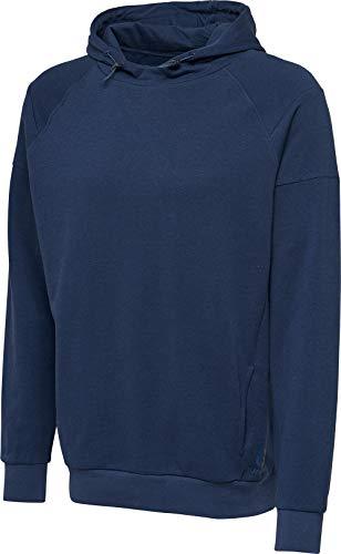 hummel hmlACTIVE Cotton Hoodie Blue Melange - L