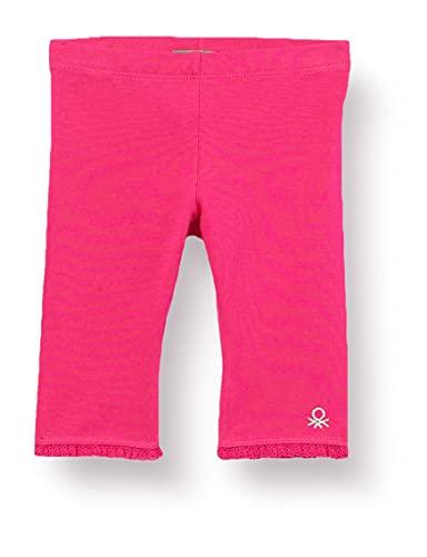 United Colors of Benetton (Z6ERJ Leggings 3MT1I0820, Pink Peacock 2l3, 24 Meses para Bebés