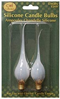 Silicone Dipped Clear Light Bulb Electric Candle Lamp 5w Replacement Country Primitive Lighting Décor
