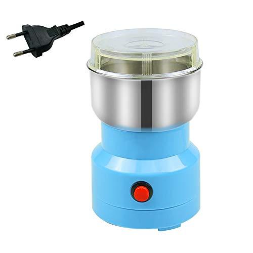 DEDC Multifunktions Zerkleinerungsmaschine Getreide Getreidemühle Mini Elektrische Kaffeebohnenmühle Getreidemühle für Kaffeebohnen Gewürzkörner Nuss (Blau)