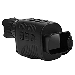 Monocular telescope, portable infrared monocular night vision device with 1.5 HD TFT screen, 960P video resolution, 250-300 m viewing distance for hunting/camping/wildlife observation/photography
