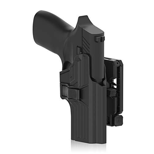 efluky Holster Pistola Molle Pistolera Airsoft Gun Holster para Sig Sauer P320, Belt Clip 360°Adjustable