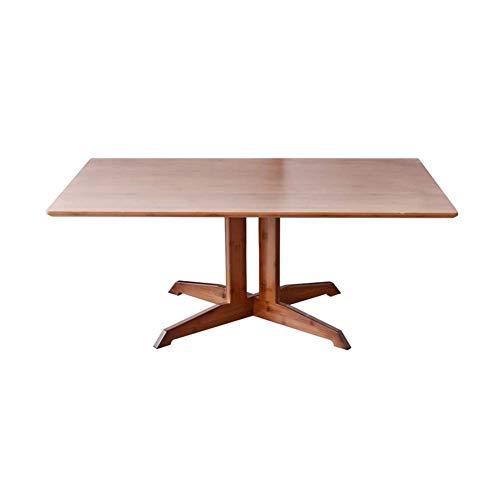 LUUDE Nordic minimalistische salontafel, rustieke bamboe-cocktailtafel, softafel, heldere textuur, open milieulak, gemakkelijk te reinigen