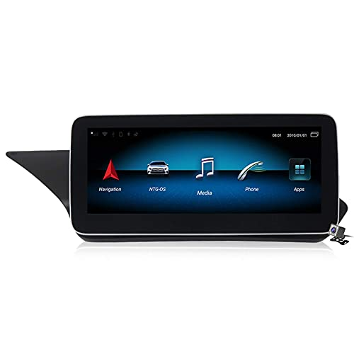 WYZXR GPS Android 10 Car Entertainment Multimedia Radio for Benz E Class W212 2009-2012 with 10.25/12.5 Inch Touch Screen, Support DSP FM AM/GPS Navigation/Bluetooth Hands-Free Calling