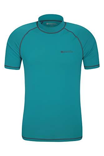 Mountain Warehouse UV-Badeshirt für Herren - Schwimmshirt mit UPF50+, schnelltrocknend, Flache Nähte UV Shirt - Ideal für Schwimmen und Tragen unter einem Schwimmanzug Hellblaugrün S