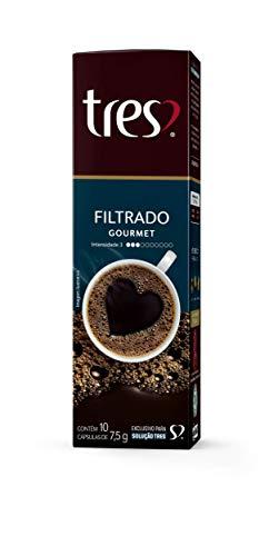3 Corações Cápsula de Café Tres Filtrado Gourmet, 10 Unidades