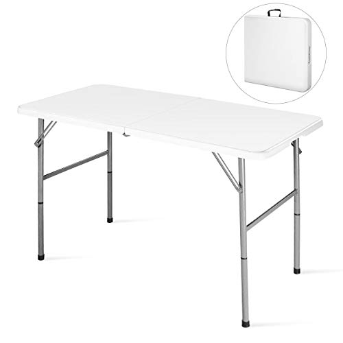 Goplus Folding Table Portable Plastic Picnic Party Dining Camp Tables Indoor Outdoor (HDPE)
