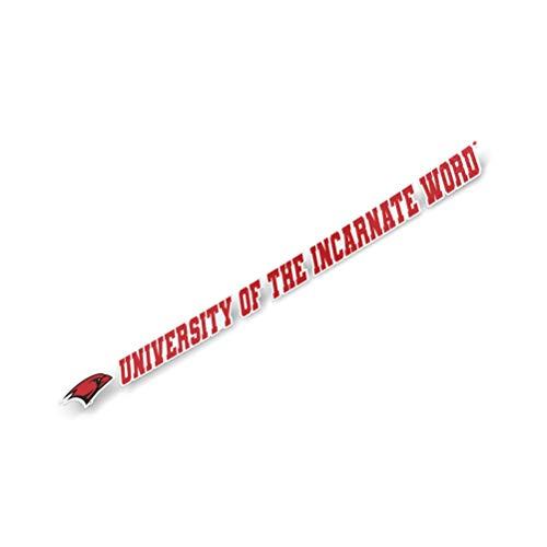 University of The Incarnate Word UIW Cardinals NCAA Name Logo Vinyl Decal Laptop Water Bottle Car Scrapbook (15 Inch Sticker)