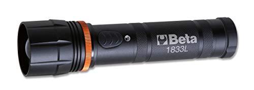 Beta Linterna profesional recargable de 1833 l, linterna LED de alta luminosidad de larga distancia, de robusto aluminio anodizado, hasta 1100 lúmenes, talla L