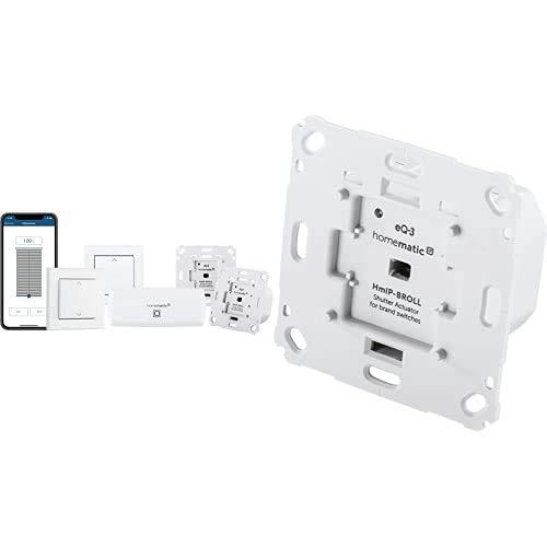 Homematic IP Smart Home Starter Set Beschattung – WLAN + Smart Home Rollladenaktor für Markenschalter, intelligente Steuerung von Rollläden und Markisen + Tasterwippe für Markenschalter – mit Pfeilen