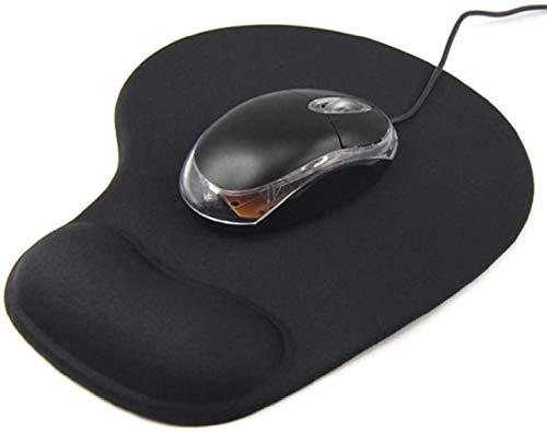 PIPRE Mousepad Poggiapolsi,Tappetino per Mouse,Gaming Mouse Pad con poggiapolsi - con Comodo Supporto in Gel per Polso - Base in Gomma Antiscivolo, Ergonomico