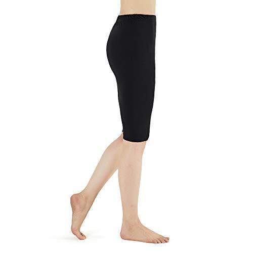 LK LEKUNI Leggings Damen Kurze Leggins Viskose Komfortable Blickdicht Elastische Schwarz M