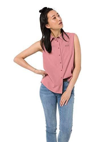 Jack Wolfskin Damen Sonora Sleeveless Shirt W Schnelltrocknende Ärmellose Bluse, Rose Quartz, L