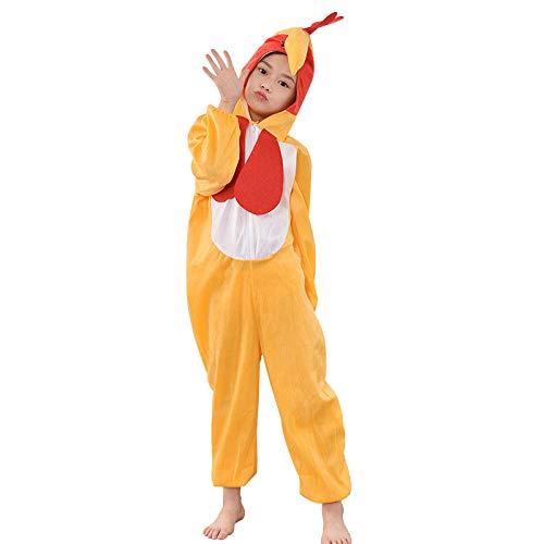XRRRO Algodón para Niños Cómodo Gallo Disfraz De Rendimiento Disfraz De Rendimiento Animal Día del Niño Cosplay-Gallo_170 Cm ((158-170)