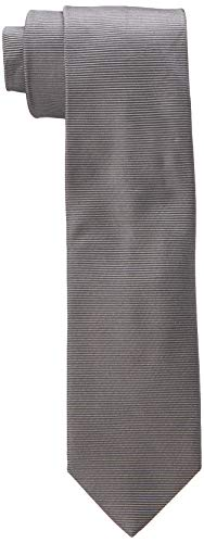 HUGO Tie Cravatta, Grigio (Medium Grey 037), Unica (Taglia Produttore: STCK) Uomo