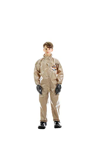 MIRA SAFETY Hazmat Suit KIDS size Disposable Protective Coverall with Respirator-Fit Hood and Elastic Cuff Size Respiratory Protection (HAZ-SUIT YL)