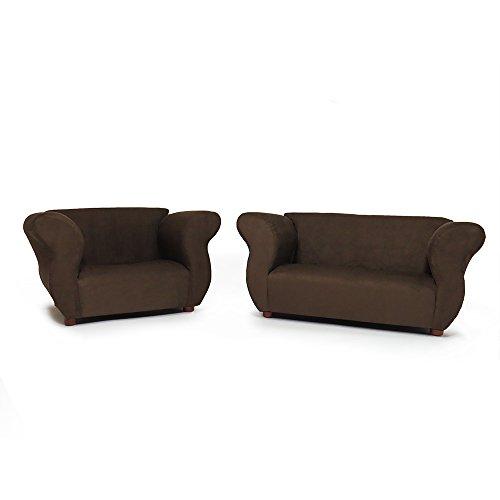 Big Sale Fantasy Furniture Sofa and Chair Fancy Set, Brown