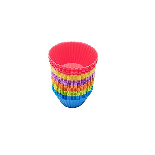 MFDSJ 30 Pack Silicone Cupcake Muffin Baking Cups, Reusable Non Stick Silicone Cupcake Baking Cups & Silicone Muffin Liners For Baking.