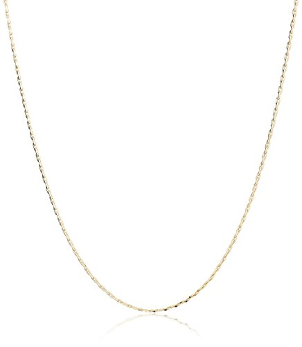 14k Yellow Gold Boston C-Link Chain Necklace, 20