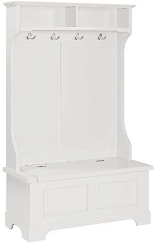 Crosley Furniture Campbell Hall Tree - White Back Hall Tree Benches