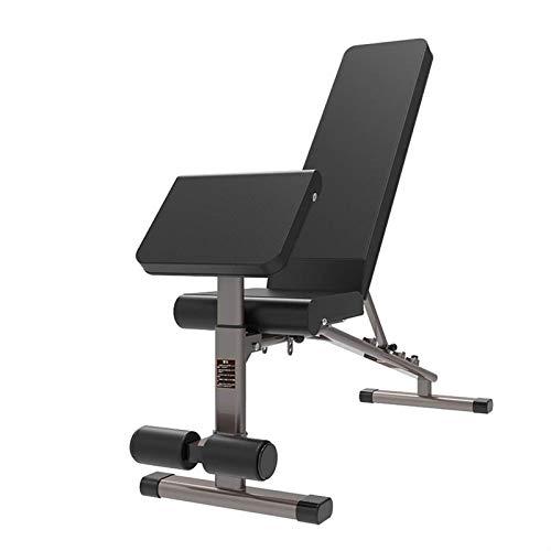 Banco de pesas para ejercicios de levantamiento Multifuncional con mancuernas heces Inicio Levantamiento de pesas cama Gimnasio Máquinas de ejercicios abdominales del músculo de fitness Silla de carga
