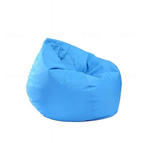 YLCJ Waterdichte Oxford Doek zitzak Sofa met druppelvorm Enkele bank voor binnen en buiten gebruik Donkerblauw/paars/Beige (kleur: B Maat: 100 en vouw; 120 cm)