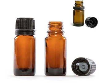Frasco opaco con gotero obturador de 15ml. Boca estrecha (Pack 50 unidades) Especial para aceites y preparados de flores de Bach