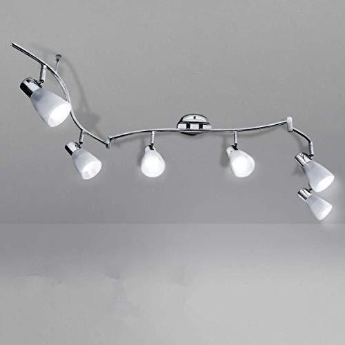 KINGSO LED Deckenleuchte 6 flammig E14 led Deckenstrahler beweglich deckenlampe küche schwenkbar lampe 6 flammig dimmbar 85-265V für Esszimmer, Wohnzimmer, Schlafzimmer, Küche (Ohne Leuchtmittel)