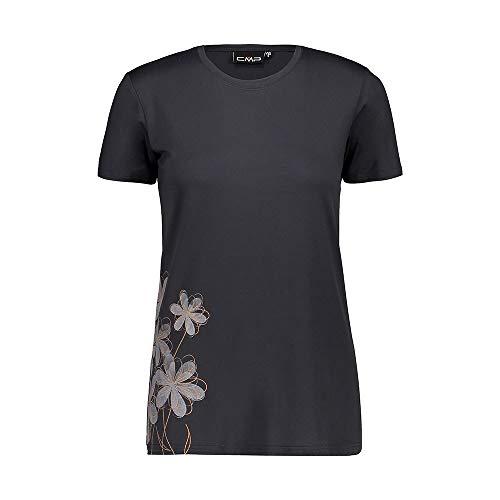 CMP – F.lli Campagnolo Damski elastyczny T-shirt z nadrukiem T-shirt szary Antracite solarium 36