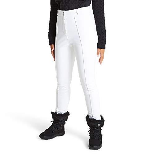 Dare 2b Damen Slender Trouser Waterproof, Breathable & Windproof Tapered Fit Ski & Snowboard Softshell Pant Lifthose, Weiß (Weiß), 18 UK