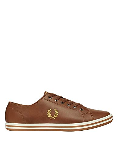 Fred Perry Kingston Leather Zapatillas Tostado/Doradas para Hombre