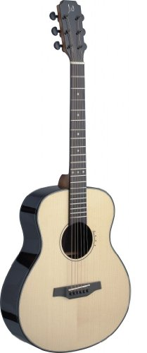 James Neligan LYN-A MINI Acoustic Travel Guitar Solid Spruce/Rosewood mit Tasche natur