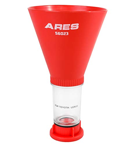 ARES 56023 - Oil Funnel - Compatible with Toyota, Lexus, and VW - Spill-Free Oil Filling - Easy to Use 1-Person Design - Fits Multiple Applications