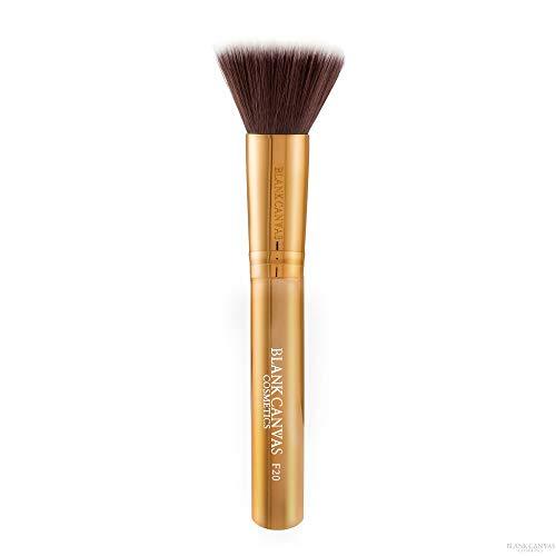 Blank Canvas F20 Mehrzweck-Puffer Make-up Pinsel für Gesicht, Metallic-Gold, Metallic-Gold1 Stück