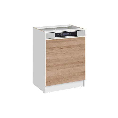 Cuisineandcie - Façade pour lave-vaisselle semi-intégrable - L 59,6 cm - décor chêne naturel