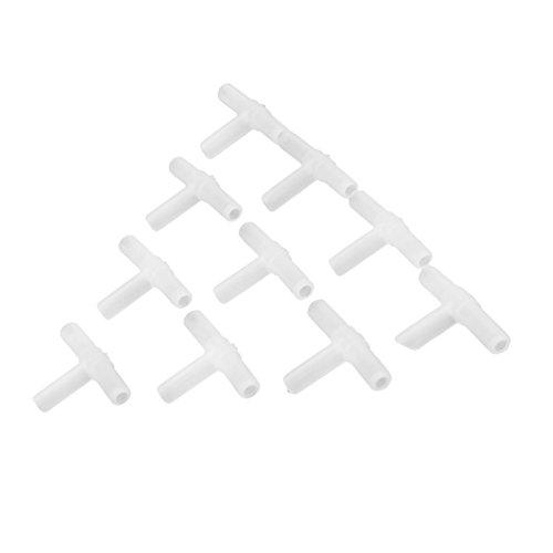 10x Aquarium Kunststoff Weiß 3-wege T Stück Plastik für Luftpumpe