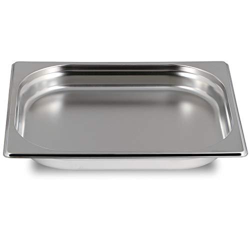 Greyfish GN Behälter :: ungelocht :: geeignet für Gaggenau, Miele, Siemens Dampfgarer (Edelstahl, Spülmaschinentauglich, Gastronorm 1/2, 40mm tief)