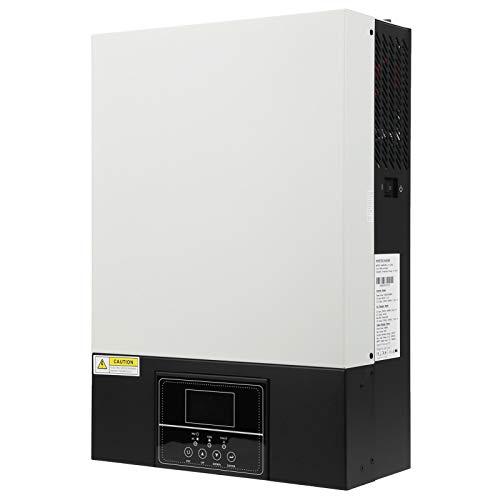 Inversor Solar 5.5KW 48V Inversor de Energia Solar Máquina Integrada de Controle de Alta Frequência com Controlador de Carga Solar 100A MPPT para Casa, Áreas Remotas Inversor de Alimentação