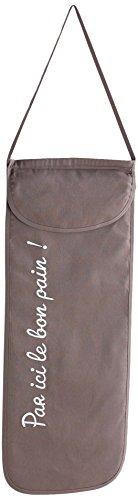 DOUCEUR D'INTERIEUR CUISTOT Bolsa de Pan de algodón, Color marrón, 70x28 cm