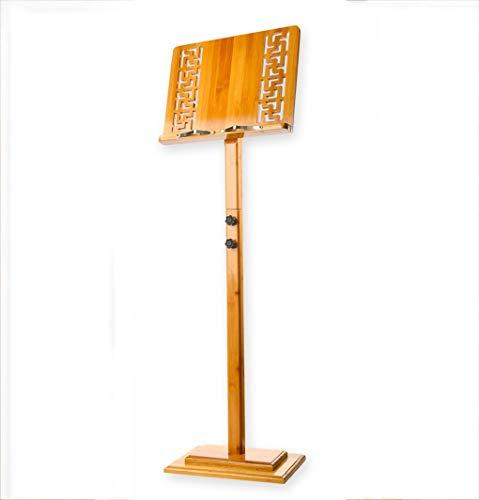 GAOLEI Hebe Notenständer Vintage Openwork Fenster Design Textur Clear Spectral Höhenverstellbar Einstellbare 110 cm-135 cm Gewicht 1,6 kg Instrument Universal